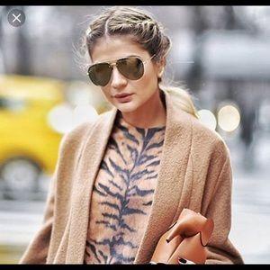 Authentic Celine Aviator Brown/Gold Sunglasses